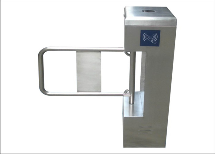 Custom Automatic Swing Barrier Controlled Access Turnstiles With RFID Reader