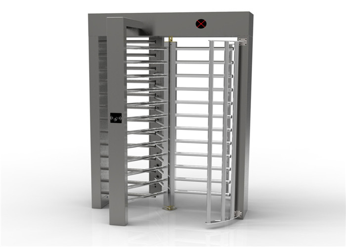 316SS Pedestrian Rotating Full Height Turnstile With LED Direction Indicators