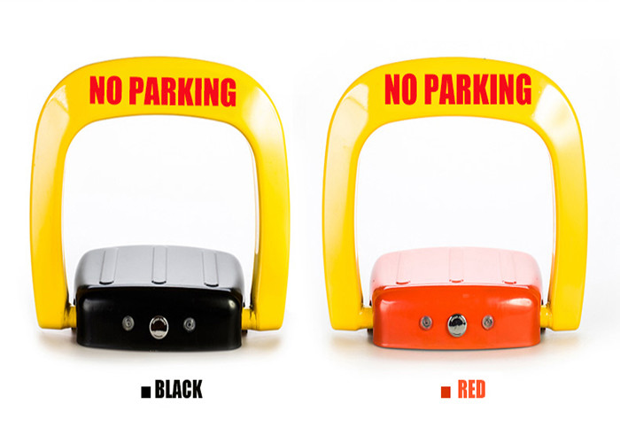 Anti rust steel automatic Car Parking Lock system powered by charge free D size battery